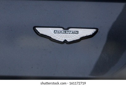 APRIL 2008 - BERLIN: an Aston Martin luxury sports car.