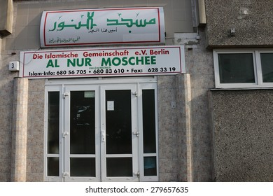 APRIL 2015 - BERLIN: the Al Nur Mosque, Berlin.