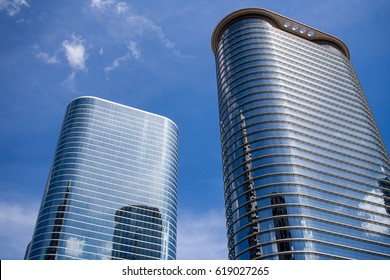 April 2017, Houston, Texas: 1400 Smith Street and 1500 Louisiana Street buildings in downtown Houston (formerly the Enron buildings).