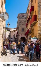 April 2017: Montblanc village on Tarragona, Catalonia