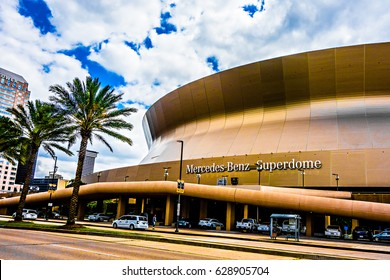 April 2017 New orleans LA - Mercedes-Benz Superdome home stadium of New Orleans NFL Saints Football Team