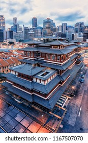 April 2018 - Chinatown, Singapore - Buddha Tooth Relic Temple and Museum in Chinatown, Singapore
