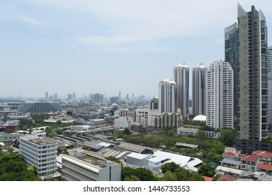 In April 2018, Cityscape of high rise and low rise building around Prom Pong district on Sukhumvit road, Bangkok, Thailand