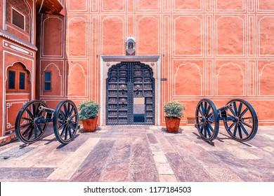 April 2018 - Jaipur, Rajasthan, India - City palace in Jaipur