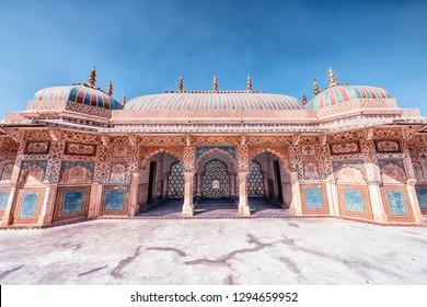 April 2018 - Jaipur, Rajasthan, India - Amber fort in Jaipur