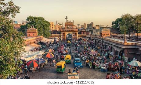 April 2018 - Jodhpur, Rajasthan, India - Sardar Market Cirdikot in Jodhpur