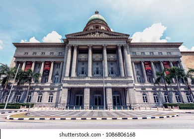 April 2018 - Singapore, Singapore - The national gallery in Singapore