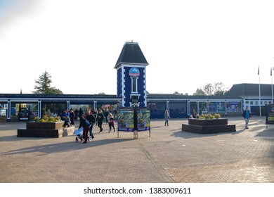 April 2019 Alton Towers Resort, UK. Entrance to Alton Towers Resort. Is a theme park resort located in Staffordshire, England. The resort, which is operated by Merlin Entertainments Group.