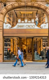 bdd8f2bc1d7 Jimmy Choo Store in New Bond Street Images, Stock Photos & Vectors ...