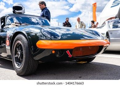 APRIL 2019: Lotus Elan in montjuic spirit Barcelona circuit car show