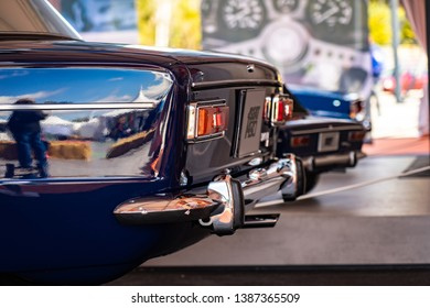 APRIL 2019: SEAT 1430 Abarth old car in montjuic spirit Barcelona circuit ca