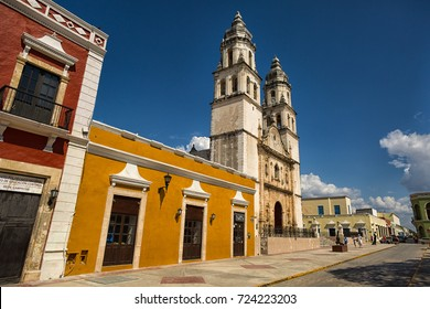 April 21, 2014 Campeche, Mexico:  well preserved architectural details in the UNESCO World Heritage colonial city