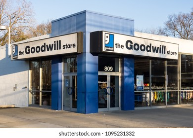April 21, 2018 - New Jersey. A Goodwill store located on Route 17.