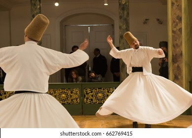 APRIL 21,2013 ISTANBUL.Sufi whirling  (Turkish: Semazen) is a form of Sama or physically active meditation which originated among Sufis.Exposed at high ISO.
