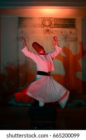 APRIL 21,2013 ISTANBUL.Sufi whirling (Turkish: Semazen) is a form of Sama or physically active meditation which originated among Sufis.Blurred and exposed at high ISO.