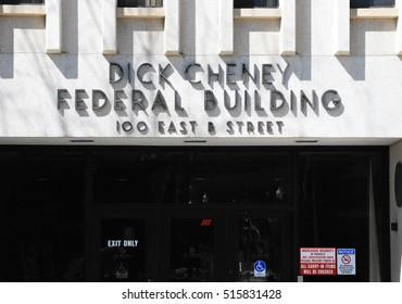 APRIL 22, 2012. CASPER, WY. CIRCA: Dick Cheney Federal Building in Casper, Wy. Vice President Cheney birthplace.