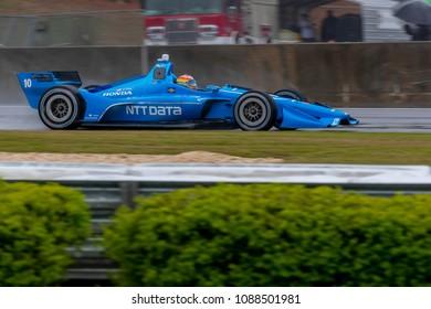 April 22, 2018 - Birmingham, Alabama, USA: ED JONES (10) of the United Arab Emirates brings his car through the turns during the Honda Indy Grand Prix of Alabama at Barber in Birmingham Alabama.