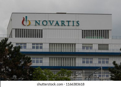 April 23, 2018 - Basel, Switzerland. Offices of a Novartis production facility in Schweizerhalle, Switzerland.