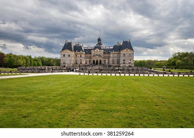 April, 24, 2015 - Chateau de Vaux-le-Vicomte - baroque French Palace located in Maincy, near Melun, in Seine-et-Marne department of France. built for Nicolas Fouquet - superintendent of Louis XIV