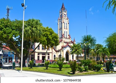 April 24, 2015 - Iquitos, Peru: The Iglesia Matriz in the Plaza de Armas / main square of the city of Iquitos in the Peruvian Amazon