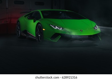 April 24 2017 - Paramus,NJ - The Lamborghini Huracán Performante is one of the most dynamic and quickest cars ever made, claiming the Nürburgring lap record. Front