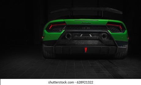April 24 2017 - Paramus,NJ - The Lamborghini Huracán Performante is one of the most dynamic and quickest cars ever made, claiming the Nürburgring lap record. Rear