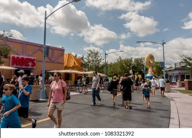 APRIL 25, 2018 - ORLANDO, FLORDIA: THE SIMPSONS SPRINGFIELD NEIGHBOURHOOD AT UNIVERSAL STUDIOS.