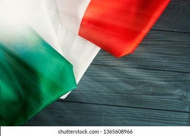 April 25 Liberation Day Text in italian card.  italy flag selective focus image