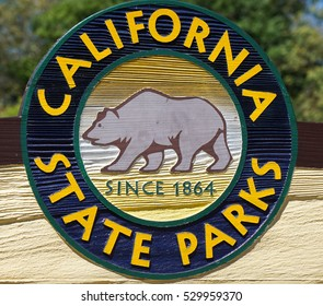 April 25th, 2016, Old Town Sacramento, California, California State Parks Sign