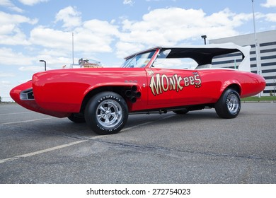 APRIL 26, 2015 - Woodbridge, NJ: A replica of the Monkeemobile from the television show The Monkees is shown at the Cars of the Hollywood Screen car show