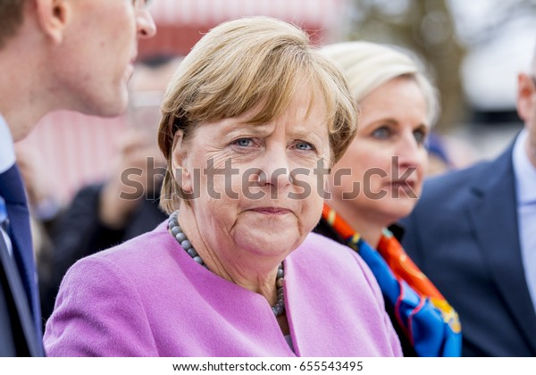 April 28, 2017, Sierksdorf: Angela Merkel on a election campaign at the family day from the CDU