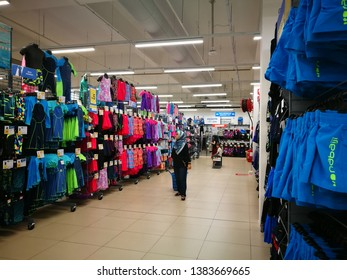April 29, 2019 - Shah Alam, Malaysia. Swimming related products at sport store Decathlon in Shah Alam Malaysia for customers here to buy.