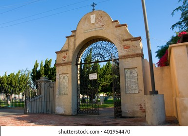 April 3, 2016: Photo of Mission San Gabriel Arcangel cemetery,which is located in San Gabriel Californa USA.