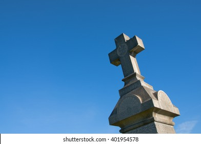 April 3, 2016: Photo of Mission San Gabriel Arcangel cemetery cross,which is located in San Gabriel Californa USA.