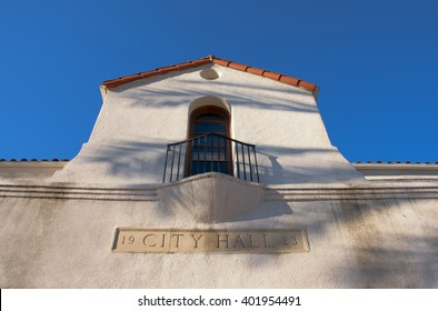 April 3, 2016: Photo of San Gabriel City Hall ,which is located in San Gabriel Californa USA.
