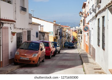 April 30, 2013 - Denia, Spain: view to the cosy streets of the small Denia town