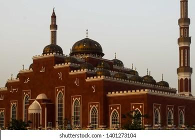 April 4, 2017-Dubai United Arab Emirates : Al Salam Mosque in Al Barsha Dubai