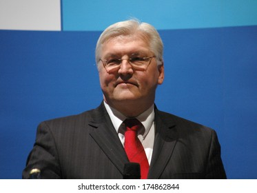 APRIL 5, 2006 - BERLIN: Frank Walter Steinmeier at  a meeting of the German Foreign Minister with members of the organizational committee of the Soccer World Championship, Foreign Ministry, Berlin.