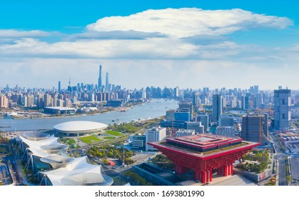 April 5, 2020:The city scenery of Shanghai, China