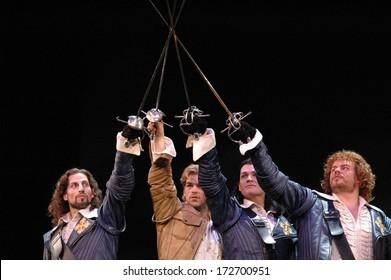 "APRIL 6, 2005 - BERLIN: impressions - rehearsal to the Musical ""Drei Musketiere - das Musical"" (Three Musketeers - the Muscial), Theater des Westens, Berlin."