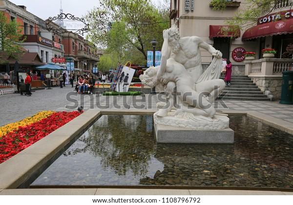 April 8, 2017, China. Italian Quarter in Tianjin City