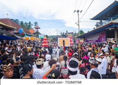 """April 9th 2016. Kubutambahan, North Bali. Nyepi /Balinese """"Day of Silence"""" dedicated to complete silence. before Nyepi every village has a raucous celebration to scary away evil spirits for the year."""