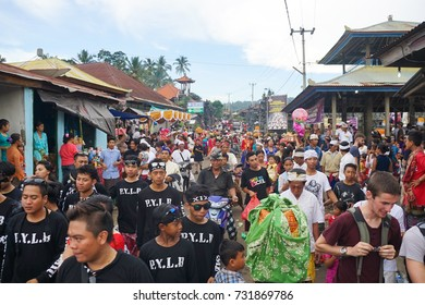 """April 9th 2016. Kubutambahan, North Bali. Nyepi /Balinese """"Day of Silence"""" dedicated to complete silence. before Nyepi every village has a raucous celebration to scare away evil spirits for the year."""
