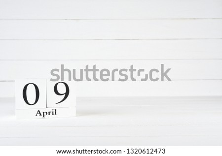 April 9th Day 9 Month Birthday Stock Photo Edit Now 1320612473