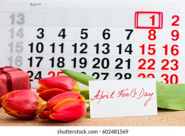 April Fools' Day on the calendar