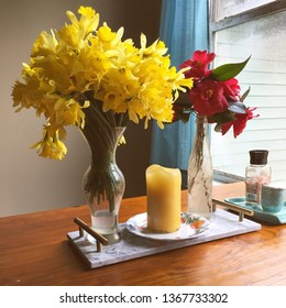 April showers bring May flowers and then you should decorate your kitchen with them.
