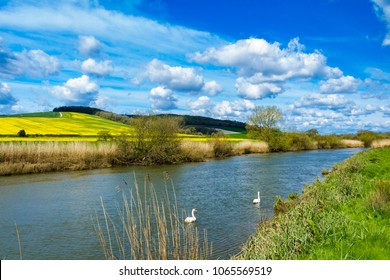 An April walk around Amberley and along the river Arun in West Sussex south east England