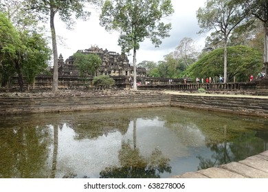 April1,2017.Angkor, Cambodia. Baphuon Temple of Khmer empire.Magnificent 11th century Khmer architecture.