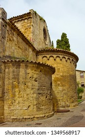 Aps of ancient church of San Vicente de Besalu, Girona province, Catalonia, Spain. The church is a place of worship