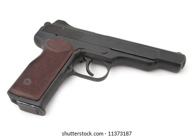 APS (automatic pistol of Stetchkin). 9mm. 20 cartridges. Very strong. Designed after the WWII. Popular by special units (in Afghanistan), nowadays also by Chechen rebels. Russia